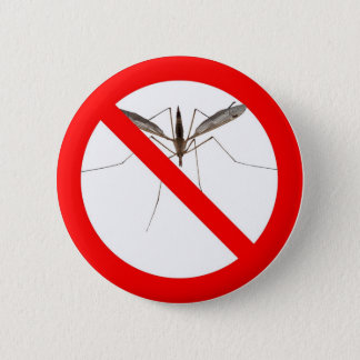 NO Mosquitos 6 Cm Round Badge