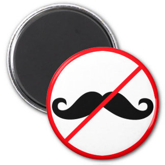 No Moustaches! Magnet