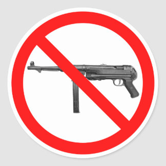 No MP40s Sticker
