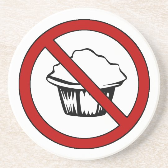 NO Muffin Tops! Funny Fat Joke Coaster