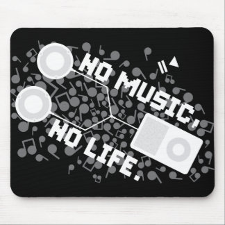 NO MUSIC, NO LIFE. MOUSE PAD