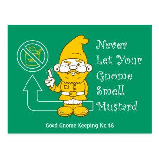 No Mustard For Gnomes Postcard