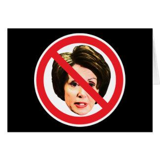 No Nancy Pelosi Greeting Card