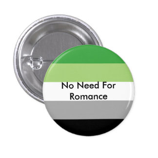 No Need For Romance 3 Cm Round Badge
