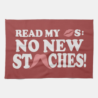 No New Staches custom color kitchen towel