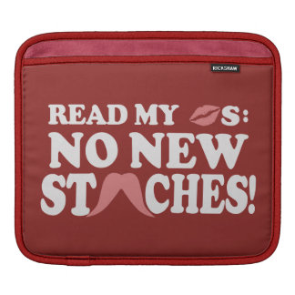 No New Staches custom iPad sleeve