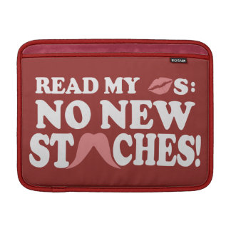 No New Staches custom MacBook sleeve