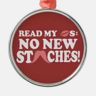 No New Staches custom ornament