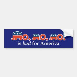 """""""No, no, no"""" Is Bad for America Bumper Sticker"""