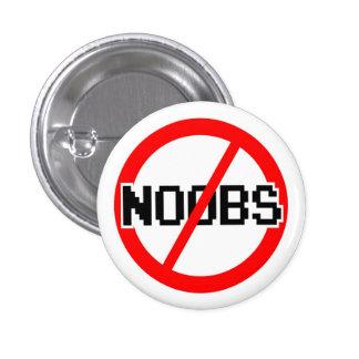 No NOOBS - chat/irc/geek/code monkey/hacker/gamer 3 Cm Round Badge