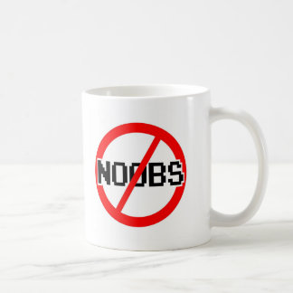 NO NOOBS - geek/hacker/pc/code monkey Basic White Mug