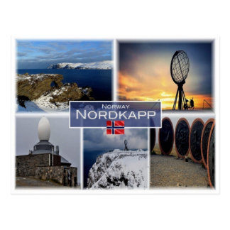 NO Norway - Nordkapp - North Cape - Postcard