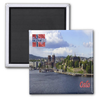NO - Norway - Oslo Square Magnet