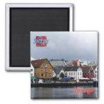 NO - Norway - Stavanger Square Magnet