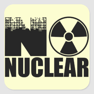 NO NUCLEAR MONO SQUARE STICKER