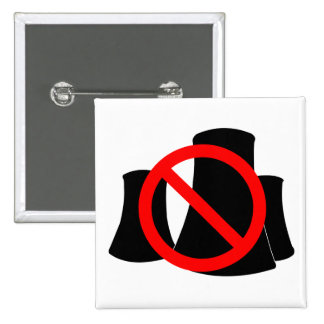 No Nuclear Power 15 Cm Square Badge
