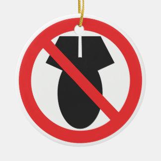 No Nuclear Weapons - No Korean War Christmas Ornaments