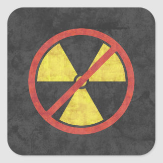 No Nukes Radiation Symbol Sticker