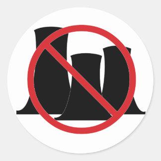 No Nukes Round Sticker