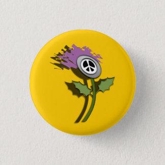 No Nukes Scottish Thistle Cartoon Pinback 3 Cm Round Badge