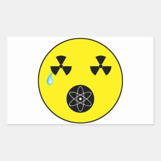 No Nukes Rectangle Sticker