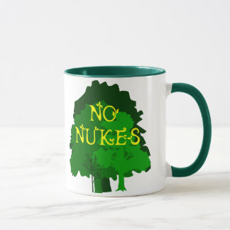 No Nukes with Green Trees Coffee Mug
