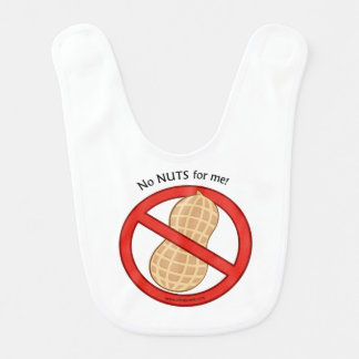 """""""No Nuts for me"""" baby bib"""