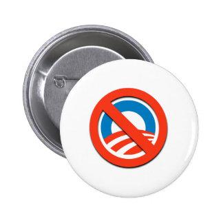 """NO """"O"""" / No Obama 6 Cm Round Badge"""
