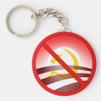No Obama 2012 Basic Round Button Key Ring