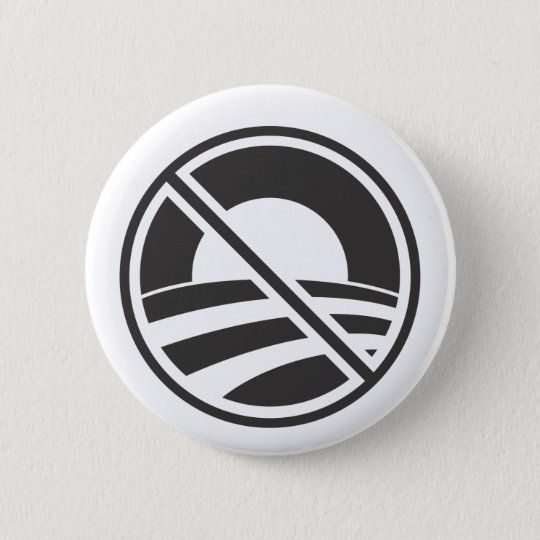 No Obama 6 Cm Round Badge