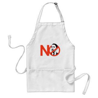 No Obama / Anti-Obama T-shirts Standard Apron