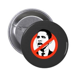 No Obama / Anti-Obama T-shirts 6 Cm Round Badge