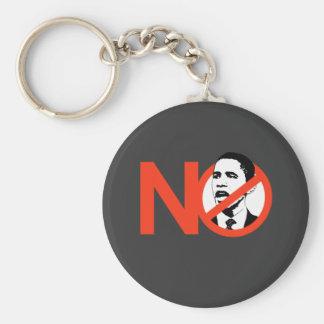 No Obama / Anti-Obama T-shirts Basic Round Button Key Ring