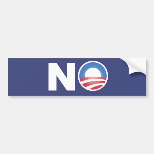 No Obama in 2012 Bumper Sticker