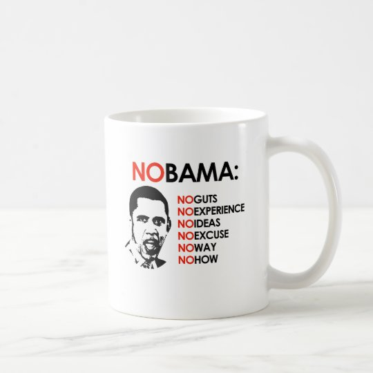 NO OBAMA, NO WAY COFFEE MUG