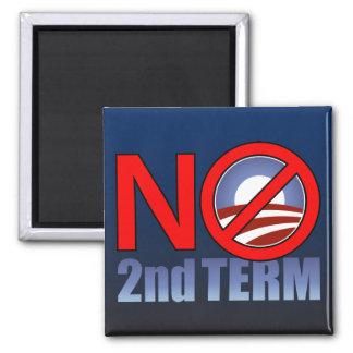 NO Obama Second Term Square Magnet