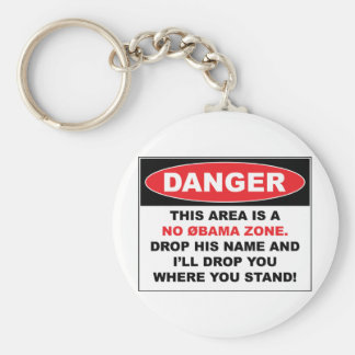 No Obama Zone Key Ring