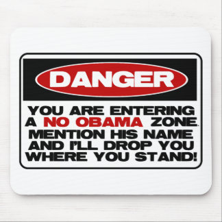 No Obama Zone Mouse Mat