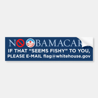 "No Obamacare ""Fishy"" Bumper Sticker"