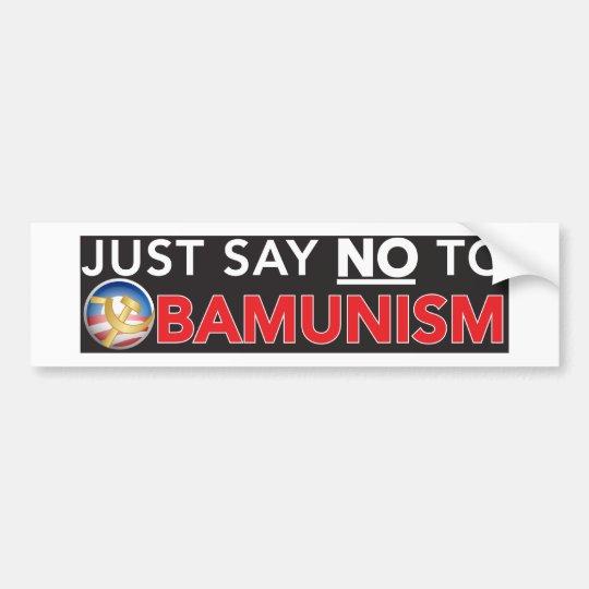 No Obamunism Bumper Sticker