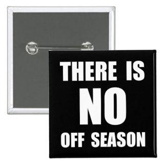 No Off Season 15 Cm Square Badge