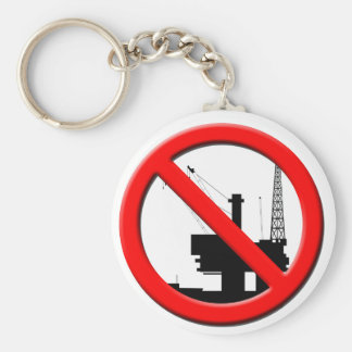 No Offshore Drilling Keychain