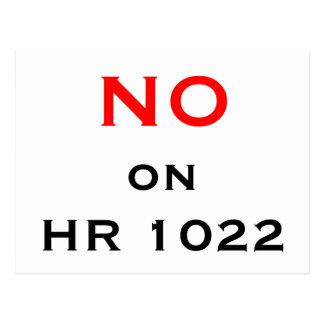 NO on HR 1022 Postcard