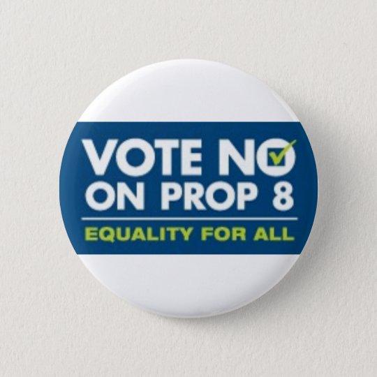 No On Prop 8- badge