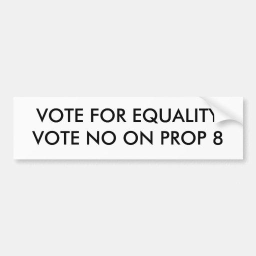 No on Prop 8 bumper sticker