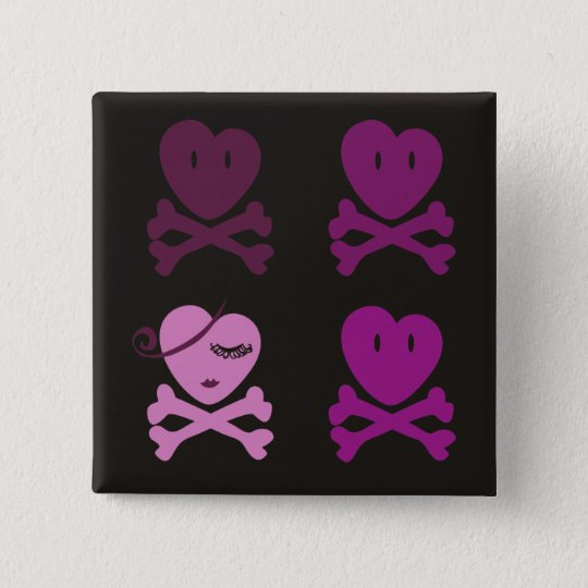 No one can tumble our love 15 cm square badge