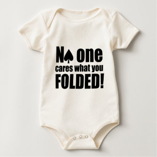 No One Cares What You Folded Baby Bodysuit