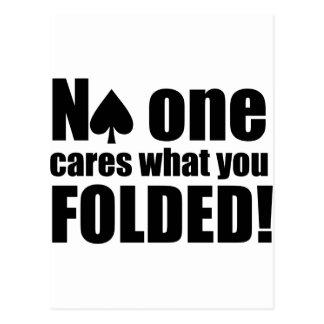 No One Cares What You Folded Postcard