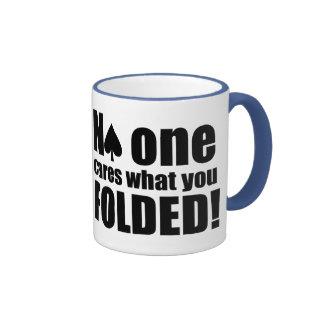 No One Cares What You Folded Ringer Mug