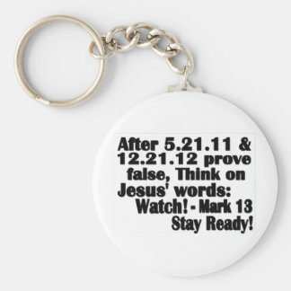 No One Knows The Hour Basic Round Button Key Ring